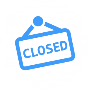 icon closed sign