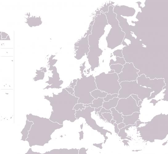 Map of Europe grey